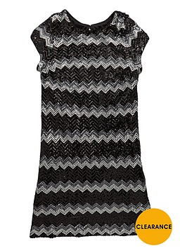 v-by-very-girls-sequined-zigzag-stripe-dress