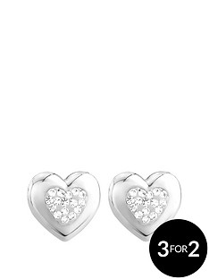 keepsafe-sterling-silver-crystal-set-heart-earrings