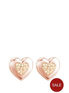 keepsafe-sterling-silver-rose-gold-plated-crystal-set-and-polished-heart-earring