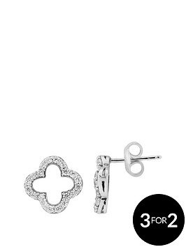 the-love-silver-collection-sterling-silver-cubic-zirconia-cutout-detail-stud-earring
