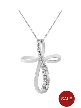 love-diamond-9ct-white-gold-diamond-set-cross-pendant