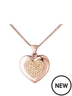 the-love-silver-collection-sterling-silver-rose-gold-plated-crystal-set-and-polished-heart-pendant