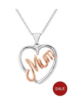 keepsafe-sterling-silver-rose-gold-plated-mum-heart-pendant