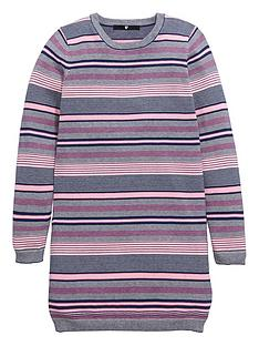 v-by-very-girls-stripe-knitted-shift-dress