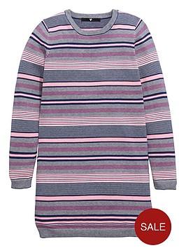 v-by-very-girls-stripe-knitted-shift-dress