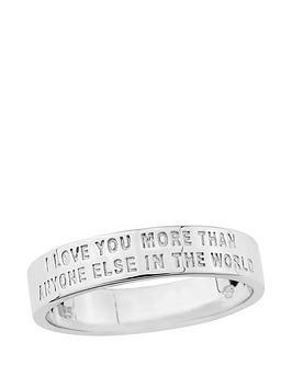 Keepsafe Sterling Silver Mens Message Ring