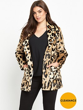 v-by-very-curve-leopard-short-fur-jacket