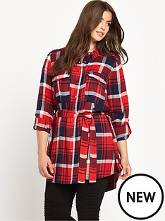 so-fabulous-brushed-check-long-line-shirt