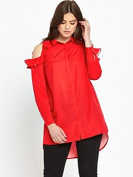 so-fabulous-frill-cold-shoulder-long-line-blouse