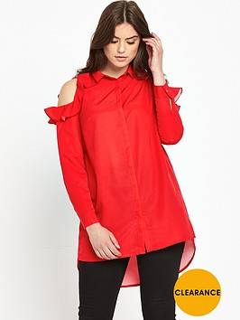 v-by-very-curve-frill-cold-shoulder-long-line-blouse