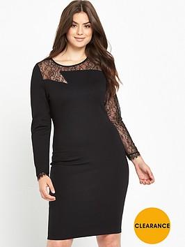 v-by-very-curve-zig-zag-lace-yoke-bodycon-dress-black