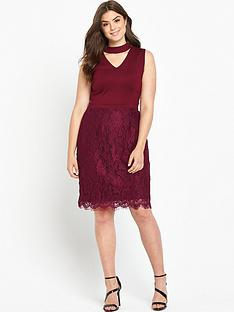 so-fabulous-v-neck-top-lace-skirt-dress--nbspbordeaux