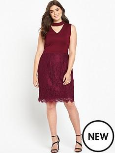 so-fabulous-v-neck-top-lace-skirt-dress
