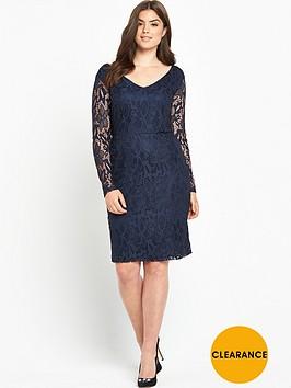 v-by-very-curve-long-sleeve-lace-dress-navy