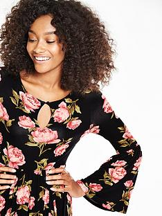 v-by-very-printed-bell-sleeve-jersey-midi-dress