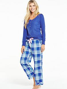 v-by-very-long-sleeve-woven-pant-pyjama-set