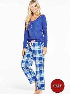 v-by-very-long-sleeve-woven-pant-pyjama-set