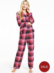 v-by-very-flannel-pyjama-set