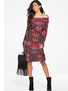 v-by-very-off-the-shoulder-tie-waist-dress