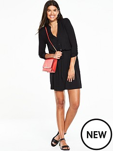 v-by-very-simple-shirt-dress-black