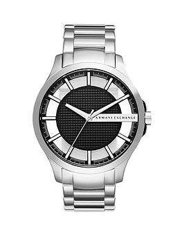armani-exchange-black-dial-and-stainless-steel-watch