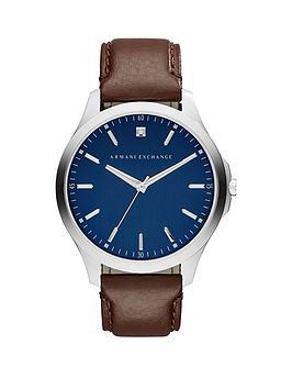 armani-exchange-blue-dial-brown-leather-strap-mensnbspwatch