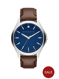 armani-exchange-blue-dial-brown-leather-strap-mensnbspwatchnbspbr-br