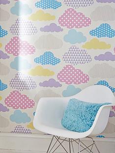 graham-brown-marshmallow-clouds-wallpaper