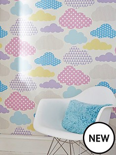 graham-brown-marshmallow-clouds-wallpaper