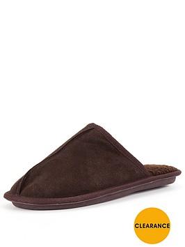 dunlop-suede-mule-brown