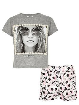 river-island-girls-hippie-printed-t-shirt-and-shorts-set