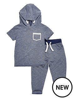river-island-mini-boys-short-sleeve-hoodie-and-joggers-set