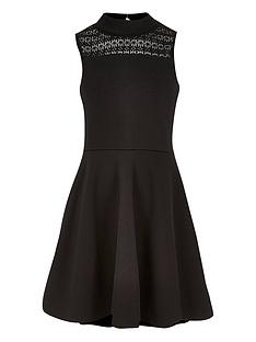 river-island-girls-skater-dress-with-lace-panel