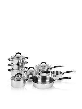 Swan 8Piece Silicon Handled Pan Set &Ndash Stainless Steel