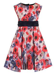 little-misdress-girls-poppy-print-bow-waist-dress