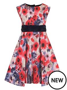 little-misdress-poppy-print-bow-waist-dress