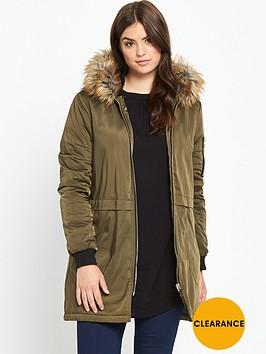 v-by-very-curve-longline-bomber-jacket-khaki