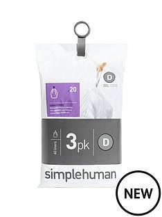 simplehuman-3-packs-of-20-bin-liners-60-liners-total-ndash-code-d
