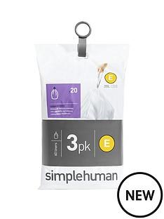 simplehuman-3-packs-of-20-bin-liners-60-liners-total-ndash-code-e