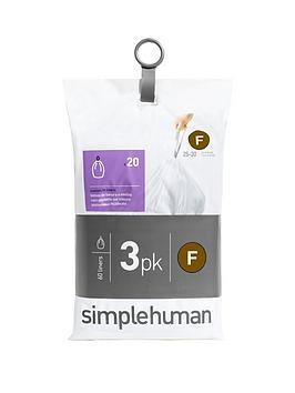 simplehuman-3-packs-of-20-bin-liners-60-liners-total-ndash-code-f
