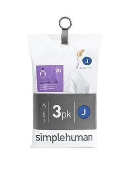 simplehuman-3-packs-of-20-bin-liners-60-liners-total-ndash-code-j