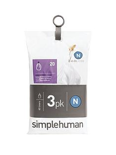 simplehuman-3-packs-of-20-bin-liners-60-liners-total-ndash-code-n