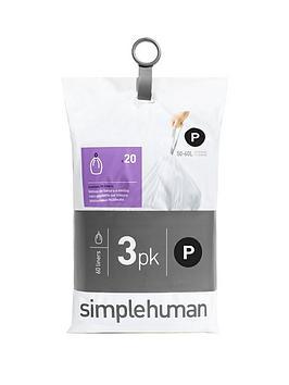 simplehuman-3-packs-of-20-bin-liners-60-liners-total-ndash-code-p
