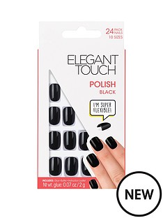 elegant-touch-polished-nails-black