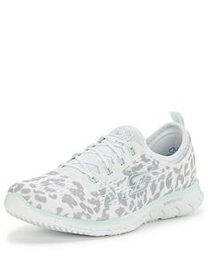 skechers-glider-animal-print-lace-up-shoe-white
