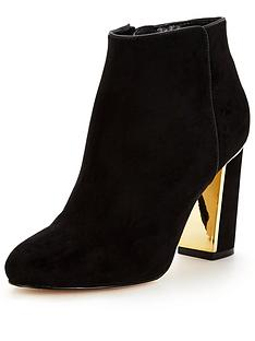 lipsy-gold-heel-ankle-boot