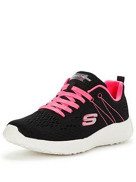 skechers-burst-adrenalin-lace-up-shoe-blackhot-pink