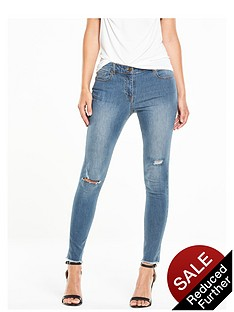 v-by-very-petite-ella-high-rise-rip-and-repair-stepped-hem-skinny-jean