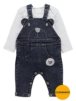 ladybird-baby-boys-acid-wash-bear-dungarees-and-bodysuit-set