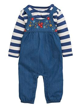 ladybird-baby-girls-embroidered-chambray-dungarees-and-stripe-t-shirt-set